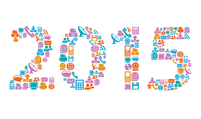 2015 type made out of graphical icons
