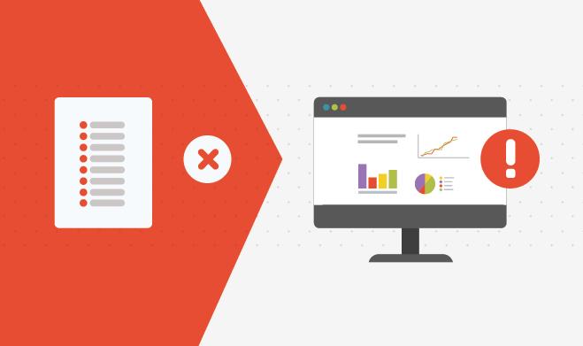 Illustration checklist of tips to avoid analytics mistake