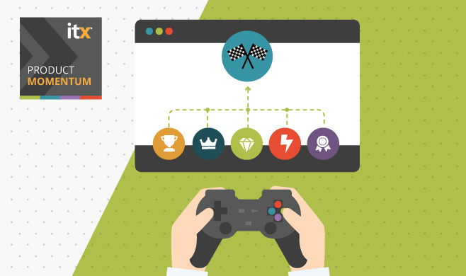 Illustration of web, features, trophies and gaming