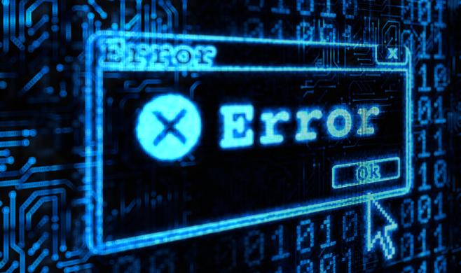 error messaging with a cursor clicking OK